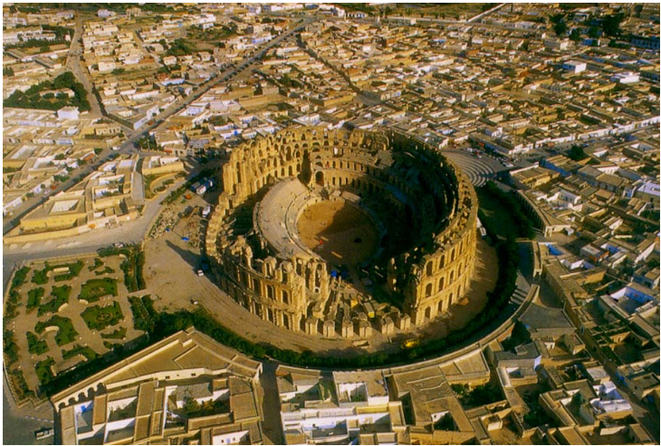 The Roman Amphitheater at El Djem  (1/6)